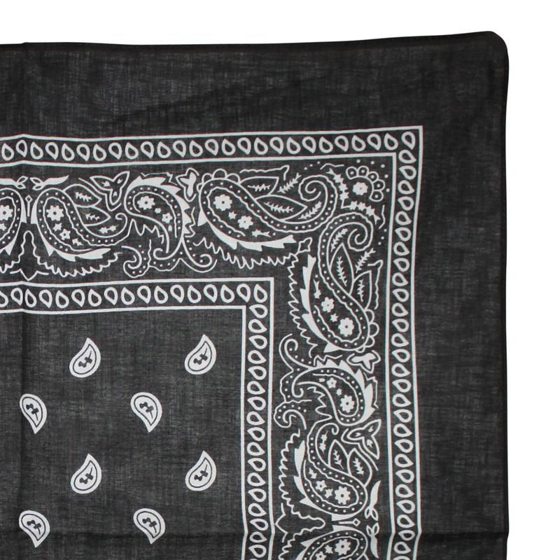 bandana tuch paisley muster klassisch schwarz wei. Black Bedroom Furniture Sets. Home Design Ideas