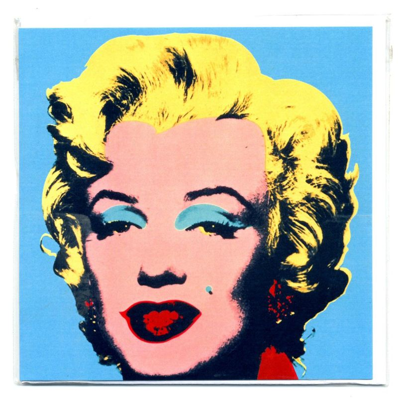 gru karte marilyn monroe blau von andy warhol postk. Black Bedroom Furniture Sets. Home Design Ideas