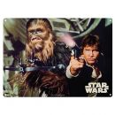 Blechschild ° Star Wars - Han Solo and Chewbacca °...