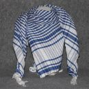Kufiya from Egypt ° white/blue ° Shemagh ° Arafat scarf