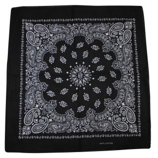 bandana tuch paisley muster schwarz wei quadratisc. Black Bedroom Furniture Sets. Home Design Ideas
