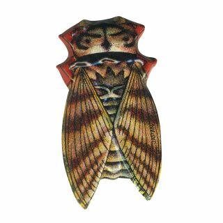 Blechanstecker - Käfer 03 - braun - Anstecker aus Blech