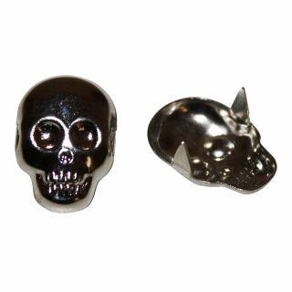 Totenkopfniete - 2 PIN-Niete mit Totenkopf - Zierniete