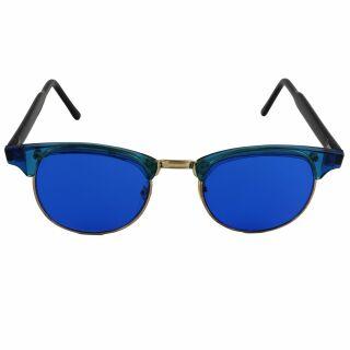 Freak Scene 60er Nerdbrille - M - blau