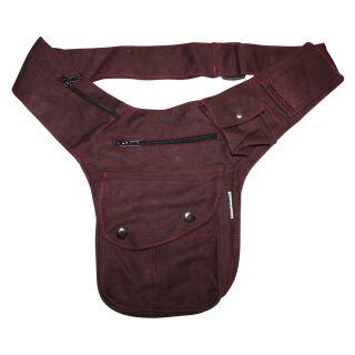 Hip Bag - Buddy - red-bordeaux - silver-coloured - Bumbag...