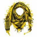 Palituch - Totenköpfe mit Knochen groß gelb -...