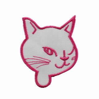 Patch - Cats Head twinkling - rose-white
