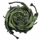 Kefiah - Stelle nero - verde-verde oliva - Shemagh -...