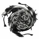 Palituch - Pentagramm schwarz - weiß - Kufiya PLO Tuch