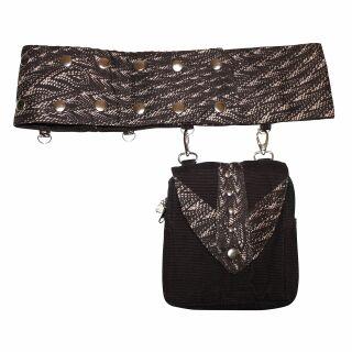 Gürteltasche - Amy - Muster 02 - Gürtelband mit abnehmbarer Tasche