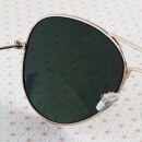 Occhiali da sole Aviator - Occhiali da sole - L - specchio giallo oro