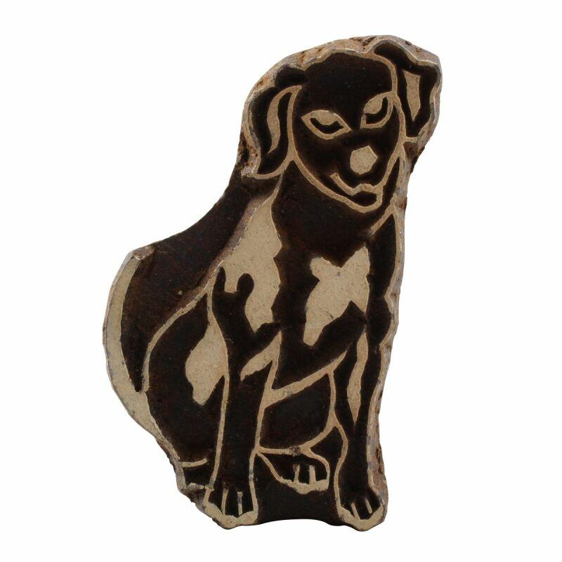 Holzstempel Stempel aus Holz Hund