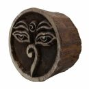 Stempel aus Holz - Buddha eyes - 5 cm - Holzstempel