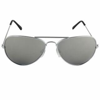 Pilotenbrille - Sonnenbrille - L - silber verspiegelt