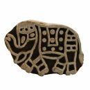Stempel aus Holz - Elefant - groß - 4 cm - Holzstempel