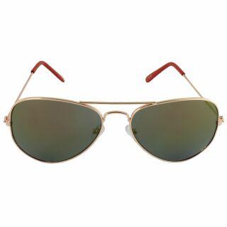 Aviator Sunglasses - L - gold mirrored