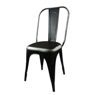 Stuhl Metall Schwarz Sitzmöbel Metallstuhl