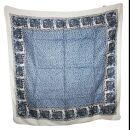 Baumwolltuch - Elefant - weiß - blau-schwarz -...