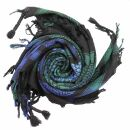 Kufiya - black - Tie dye-Batik-multicolored 02 - Shemagh...