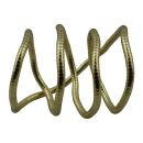 Modeschmuck - biegsame Schlangenkette - gold - Goldton 01...