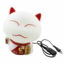 Cat Lamp - Lamp with luck-bringing cat - white