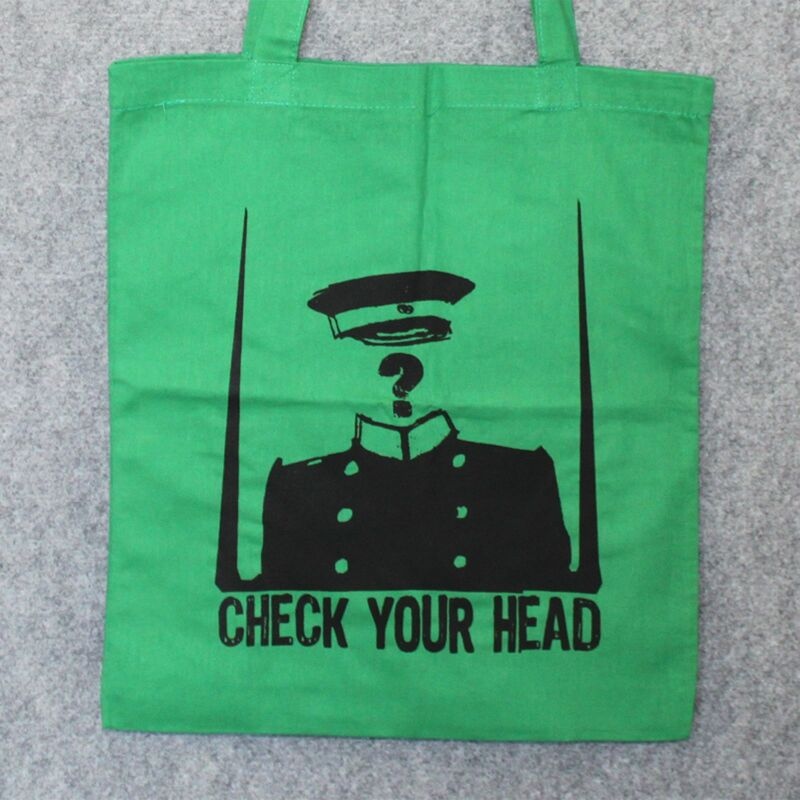 Stofftasche - Check your head - Stoffbeutel