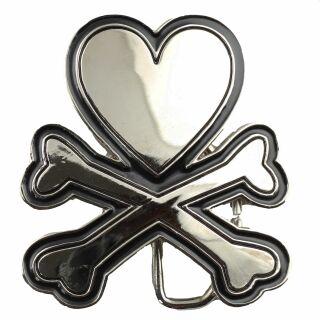 Hebilla de cinturón suelta - hebilla intercambiable para cinturón - hebilla intercambiable - hebilla de cinturón - corazón con hueso