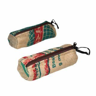 Federmäppchen aus Jutesäcken - recycelt rund - Schlampermäppchen