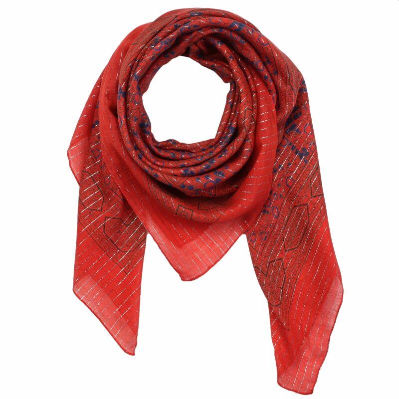 Indisches Muster 1 quadratisches Tuch Baumwolltuch rot