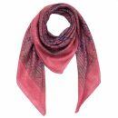 Cotton Scarf - Indian pattern 1 - pink 2 Lurex silver -...