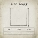 Cotton Scarf - Skull grey - multicolor - squared kerchief