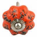 Möbelknauf aus Keramik Shabby Chic Rosette - Used...
