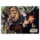 Blechschild - Star Wars - Han Solo and Chewbacca -...