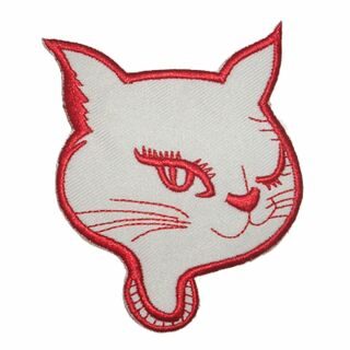 Patch - Cats Head twinkling - red-white