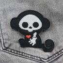 Aufnäher - Affe Skull - schwarz-weiß - Patch