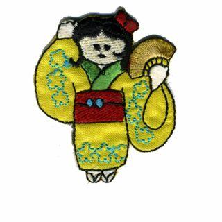 Parche - Geisha - verde-amarillo-rojo