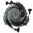 Stilvoll detailliertes Tuch im Pali-Look - schwarz -...
