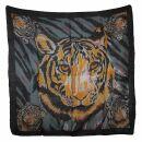 Baumwolltuch - Tiger - quadratisches Tuch