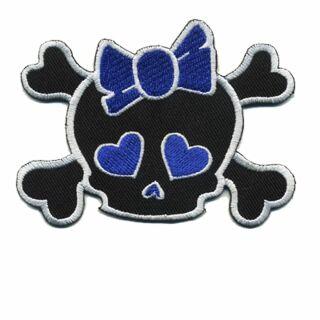 Parche - Cabeza con corazón - negro-blanco