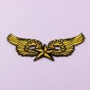 Aufnäher - Stern mit Flügel - gelb-schwarz - Patch