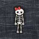Patch - Skeleton with bow - red