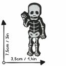 Patch - Skeleton waving - black-white