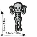 Aufnäher - Skelett - frech schwarz-weiß - Patch