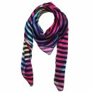 Cotton Scarf - Circles - tiedye - black - squared kerchief
