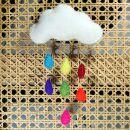 Felt cloud - rainbow drops