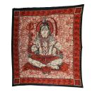 Bedcover - decorative cloth - Shiva - red - 83x93in