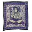 Bedcover - decorative cloth - Shiva - purple - 83x93in