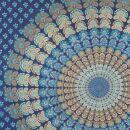 Bedcover - decorative cloth - Mandala - blue - 83x93in