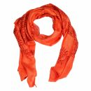 Prayer Shawl - Meditation Wrap - 69 x 35 - salmon orange