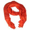 Prayer Shawl - Meditation Wrap - 52 x 23 - salmon orange